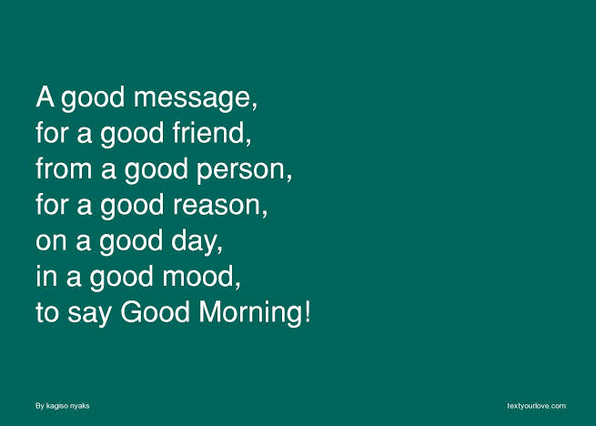 good morning text messages for friends