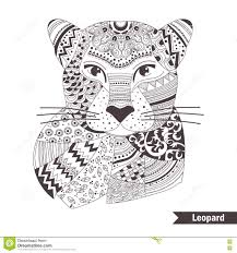 Leopard Coloring Book Stock Vector Illustration Of Ornament 74047324