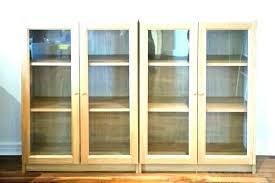 decoration bookshelf with glass doors bookcase bookcases door ikea besta cabinet
