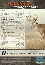 Deer Movement Chart Oklahoma Oklahoma Hunting Seasons Hunting Season Hunting April May
