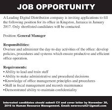 Jobs Postings Caribbean October 2016