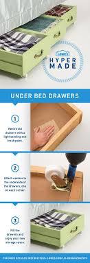 upcycle old drawers by adding wheels on the bottom for underbed storage