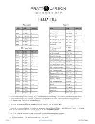 Field Tile Chart Pratt Larson Ceramics Pdf Catalogs