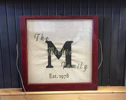 diy work vintage window fabric family name wall art with chalk paint
