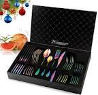 HOBO Rainbow Cutlery Set, 24 Piece Stainless Steel Flatware Set