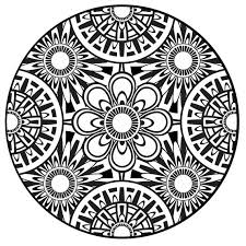 Free Printable Flower Mandala Coloring Pages Marvelous Design Ideas