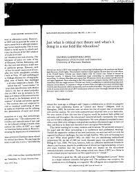 PDF) Just What is Critical Race Theory ...