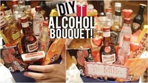 diy alcohol bouquet candy bouquet candy board more diy holiday gifts you