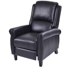 luxury leather recliner chairs. giantex pu leather recliner chair push back club living room seat furniture w/fo luxury chairs