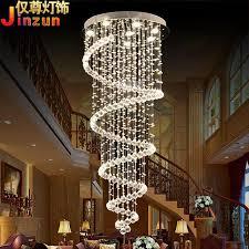 modern stairwell lighting. discount crystal chandelier modern minimalist circular rotating villa duplex hanging wire stairwell light long living room lights restaurant designer lighting o