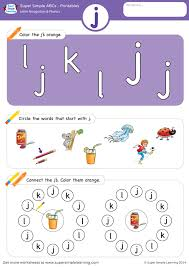 Letter sounds a to z books for preschool and kindergarten. Letter Recognition Phonics Worksheet J Lowercase Super Simple