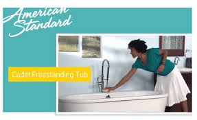 American Standard Cadet 3 Decor Cadet Freestanding Soaker Tub From American Standard Youtube