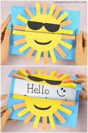 sun diy paper card idea for kids this diycard is a perfect summer craft for