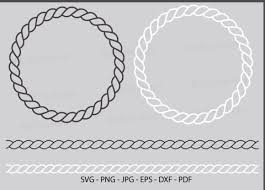 Chevrond letters svg cutting files, cutting files from a tot z. 1 Rope Twisted Border Svg Designs Graphics
