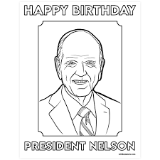 To make things more interesting, you can ask your kid to put a color of their choice. President Nelson Birthday Coloring Page Printable