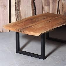 ernut live edge coffee table u legs