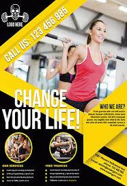 Fitness Brochure Template Psd Free Fitness Tri Fold Brochure Design