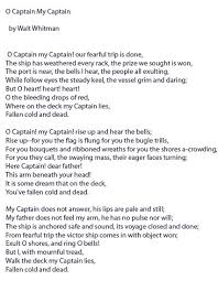 o captain my captain by walt whitman bald punk o captain my captain walt whitman