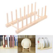Wooden Display Stands For Plates Wooden 100 Section Plate Stand Dish Rack Stand Wood Display Holder 27