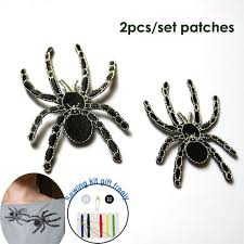 <b>2pc</b>/<b>set</b> high quality spider ironing embroidery patches iron on ...