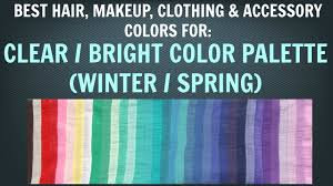 clear winter clear spring color palette best hair makeup outfit colors neutral skin tone you