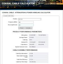 Coax Cable Specifications Chart Hey Which Coaxial Cable Should I Use Ham Radio School Com