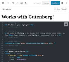 HTML Editor Syntax Highlighter – WordPress plugin | WordPress.org