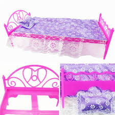 3 ItemsDolls Furniture Bed Pillow Lace Bed Sheet Doll Accessories