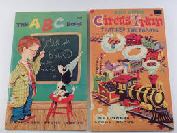 2 vine happiness story books the little circus train that led the parade the abc book 1955 by vinepolkadot on etsy