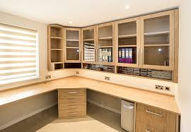home office in a cupboard. Bespoke Corner Home Office In Oak With Twin Worksttions A Cupboard T