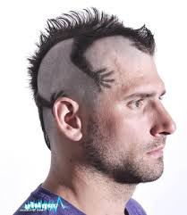 Funky Mens Mohawk Haircut Style Men Hairstyle Trend Funny
