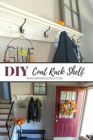 Home Goods Coat Rack Extraordinary DIY Coat Rack Shelf Sprinkle Of Joy