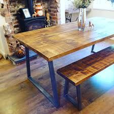 Industrial Style Dining Table And Bench Set Industrial Evolution