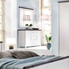 Landhaus Schlafzimmer Kommode In Weiß Mit Braun Massivholz Darana