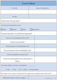 Sample Feedback Forms Template