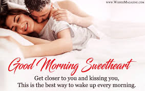 romantic good morning wishes for