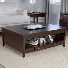 coffee table sofa table with storage drawers dark wood tables awesome dark wood coffee
