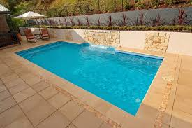 plunge pool with fountain