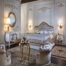 solid wood bedroom sets. French Royal Solid Wood Bedroom Furniture With Gold Leaf, 24K Plated Luxury King Size Sets