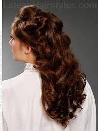 vine inspired haircut with updated loose curls back view