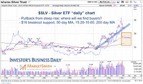 Slv Chart Silver Etf Slv Update All Eyes On 16 Support See It Market