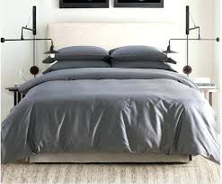 solid grey cotton sheets bedding sets king queen size intended for duvet cover remodel 5 egyptian