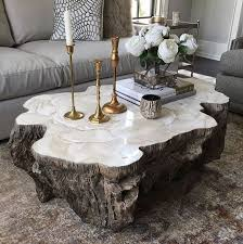 chloe fossilized clam lava coffee table
