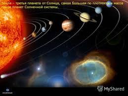 Презентация на тему Наша планета Земля Творческий проект  5 Земля третья планета от Солнца самая большая по плотности и массе среди планет Солнечной системы