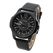 amazon com curren 8123 modern business men watch big round curren 8123 modern business men watch big round leather band all black