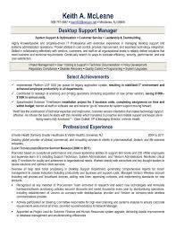 Sample Resume For Experienced Desktop Support Engineer Inspirationa