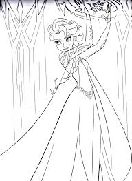 printable frozen coloring page to print and color for free