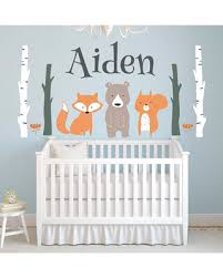 woodland wall decal personalized name wall decal woodland animals wall art nursery wall decor fox bear on forest animal nursery wall art with summer savings on woodland wall decal personalized name wall decal