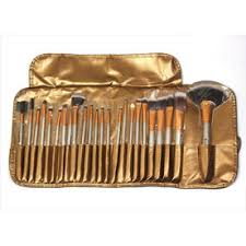 bronson professional makeup brush set of 24 brushes with lux