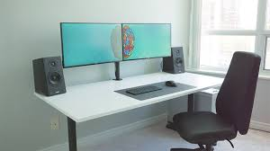 outstanding the ultimate dual monitor desk setup for your creative workflow with regard to dual monitor desk modern